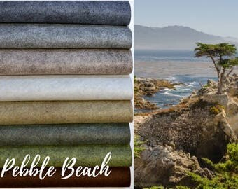 NEW *** Pebble Beach Collection, Wool Blend Felt, Wool Felt Sheets, Wool Felt Fabric, Felt Fabric Bundle, Wool Felt Bundles Collections
