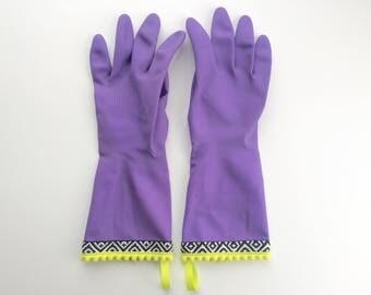 Designer Cleaning Gloves - Neon Tribal
