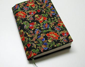 Book cover, TRADE SIZE, paperback book protector, cotton, padded cover, ribbon bookmark, Kiev