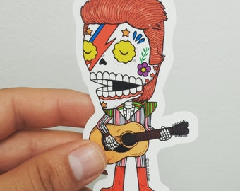David Bowie Calavera Die Cut Vinyl Sticker