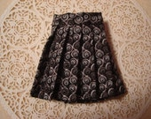 Blythe Gray/black Pleated Wrap Skirt for Pullip and Vintage Skipper Too!