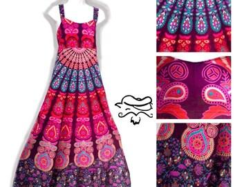Womens Sun Dress, Women's Hippie Dress,XSmall- Plus Size dress, Grateful Sun Dress, Indian Batik Dress,Phatcatpatch Festival Dress