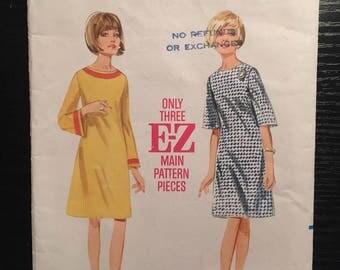 "Vintage 1960's Butterick #4102 Women's Dress Pattern Size 10, Bust 31"" - OH - 1960s Butterick / 60s Butterick / 1960s Pattern"