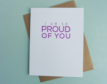 Letterpress Greeting Card - Graduation Card - Milestones - I am so Proud of You - MLS-091