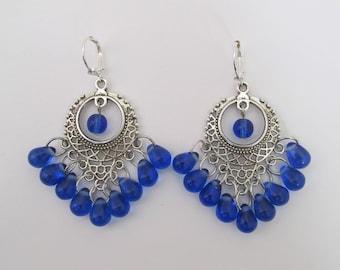 Chandelier Earrings - Royal/Sapphire Blue