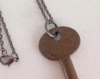 SALE Vintage Jewelry Skeleton Key Necklace Clock Key Recycled Upcycled Jewelry Steampunk.