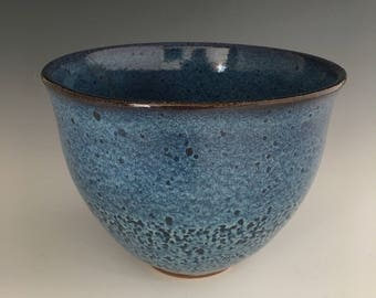 Ceramic soup bowl, Blue bowl, Serving bowl BR5