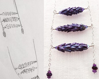 Lavender Laddder Necklace