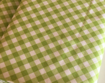 Gingham Fabric, Gingham Dress 50's fabric, Gingham Dress, Girls Gingham Dress fabric, Bonnie and Camille, Gingham in Lime, Choose your cut