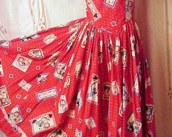 Raggedy Anne Dress Home Made bust 34 waist 28