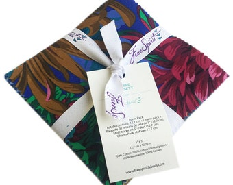 """SQ44 Kaffe Fassett COLLECTIVE SWEET Precut 5"""" Charm Pack Fabric Quilting Cotton Squares Free Spirit"""