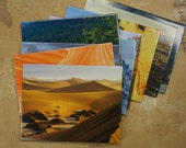 National Parks Calendar SET - recycled pages into envelopes - With Cards