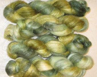 Handpainted Roving -- BFL and Silk