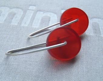 Red Resin earrings