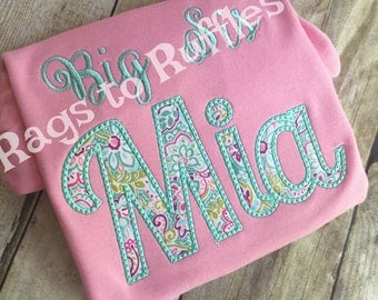 Big Sister Personalized Shirt -Big Sis Monigrammed Shirt