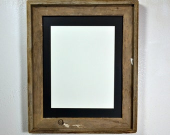 11x14 reclaimed wood picture frame with mat for 8x10,8.5x11 or 9x12