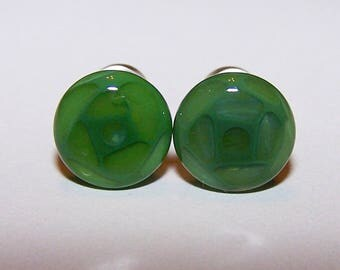 2 gauge green design glass plugs single flare with o-rings 767