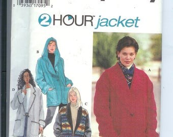 Simplicity Jacket 2 Hour Unlined Jacket Sewing Pattern 9744  Misses Size AA   XS-S-M UNCUT