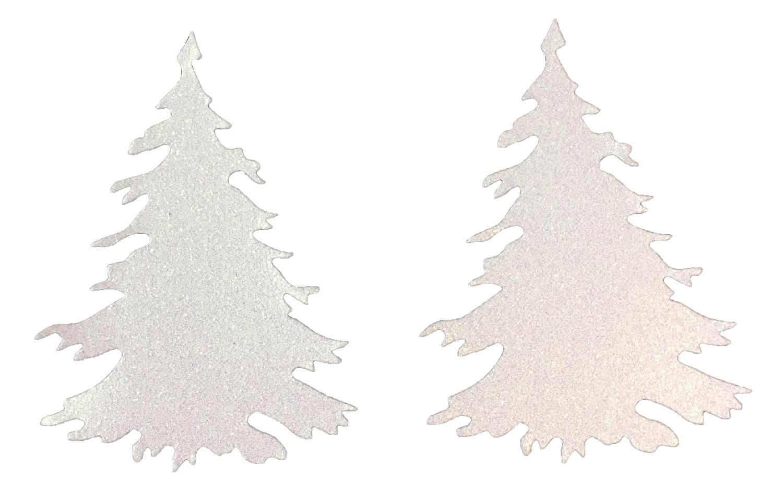 christmas tree die cut snow white glitter cardstock embellishment