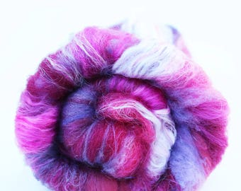 Spinning Fiber Art Batt, 2 oz, Merino, Bamboo, Nylon, Angelina, Cormo, and more