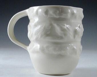 Porcelain Handmade Embossed Mug