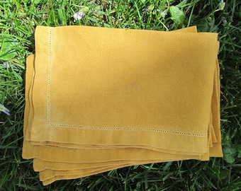 Gold Linen Napkins from 1960s