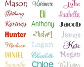 Name Sticker Wall Decal • Medium Wall Door Decal for Nursery Bedroom Decor • Childs Name Word Wall Decal • Playroom Perfect for Bedroom Door