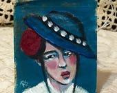 Portrait of Celeste - Original Tea Bag Portrait #56