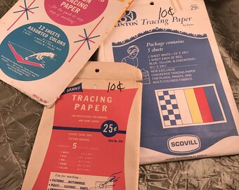 Lot of 3 Packages of Vintage Tracing Paper