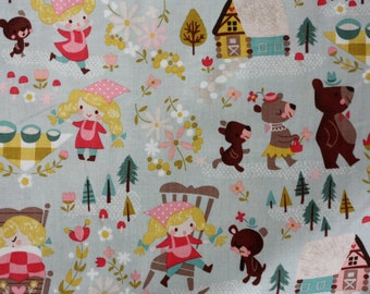 1 yard Goldilocks Blue Teal Main Goldi fabric by Riley Blake Designs by Jill Howarth fat quarter half