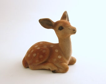 Vintage Deer Figurine Fawn Figurine Vintage Christmas Decoration