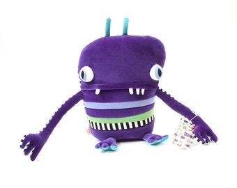 """Plush Stuffed Monster """"Serena"""" Little Cotton Monster"""