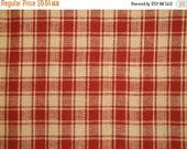 Black Friday Cotton Homespun Fabric | Plaid Fabric | Red Plaid Fabric | 29 x 44