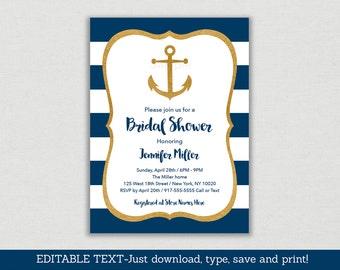 Anchor bridal shower Etsy