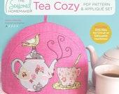 Tea Time Tea Cozy PDF Pattern PLUS Appliqué Set