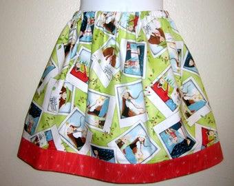 Girls, The Traveller Girl Photo Snapshots skirt in light green, Kori Kumi, Santoro  6M to size 8