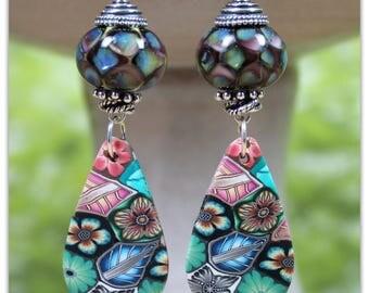 Mystic Garden Lampwork Earrings