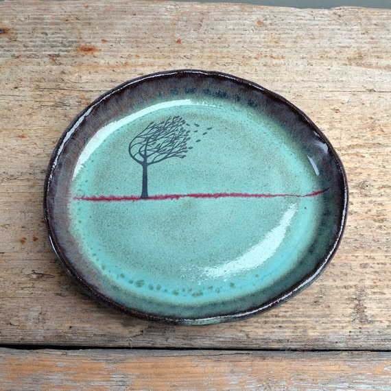 Small Oval Windy Tree Plate