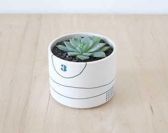 porcelain planter.