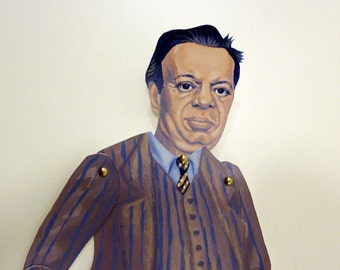 Diego Riviera Articulate Paper Doll - Paper Puppet - DIY Printable PDF