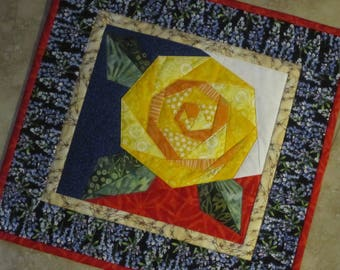 YELLOW ROSE of TEXAS Mini Quilt from Quilts by Elena