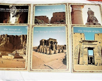 Vintage 80s Lot 6 Egypt Travel Brochures Maps Temples Booklets
