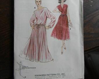 Vintage Kwik Sew Dress Pattern #926, Uncut Sizes 14 thru 20