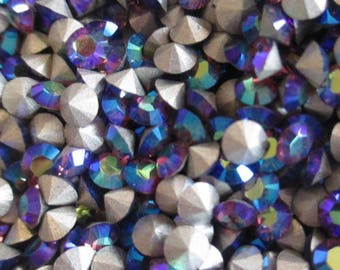36pc pp31 Amethyst AB ss16 Swarovski Size 16 or 4mm Chatons Art 1012 Swarovski Amethyst ab 4mm Amethyst ab pp31 Amethyst ab Chatons