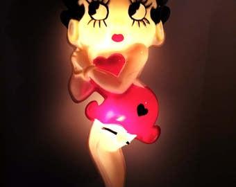Vintage Betty Boop Bar Light Man Cave Lighting Den Lighting, Garage Light Free Shipping