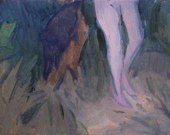 jungle legs / original painting / figurative art / fine art / contemporary art