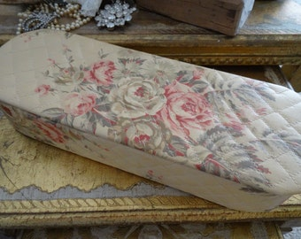 Vintage Shabby Cottage Chic Glove Box Roses