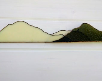 Stained Glass Mountainscape
