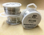 20 gauge Non Tarnish Silver Plated Copper Craft Wire 6 yards Made in USA