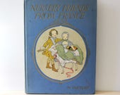 RESERVED for STELLA  Nursery Friends from France. Vintage 1920s children's book featuring French songs and rhymes in English and French.